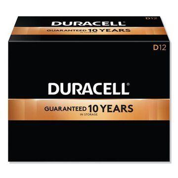 Duracell CopperTop D Alkaline Battery, 72 PK, 1.5VDC