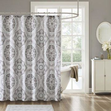 Home Essence Von 100% Cotton Printed Shower Curtain