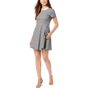 maison Jules Womens Embellished Fit & Flare Dress