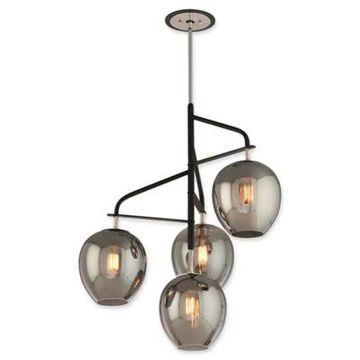 Troy Lighting Odyssey 4-Light Large Ceiling Pendant in Carbide Black