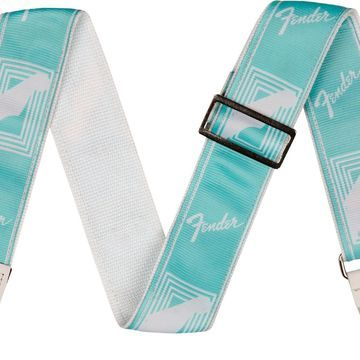 2 inch Custom Color Fender Monogrammed Strap Daphne Blue