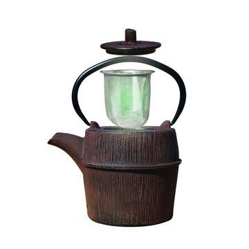 Old Dutch Woodland Brown Cast Iron 26-ounce Shinrin Teapot