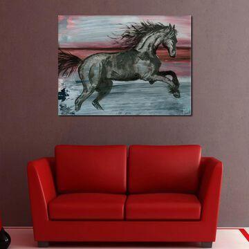 Ready2HangArt 'Equestrian Saddle Ink PSVII' Canvas Wall Art