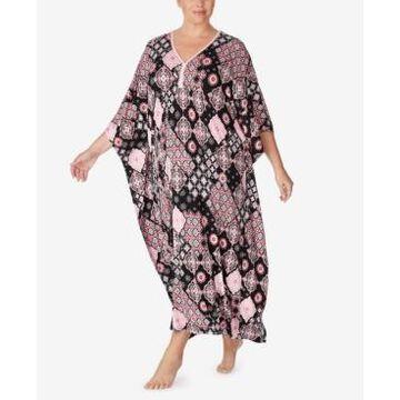 Ellen Tracy Printed Caftan Nightgown