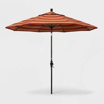 9' Sun Master Patio Umbrella Collar Tilt Crank Lift - Sunbrella - California Umbrella