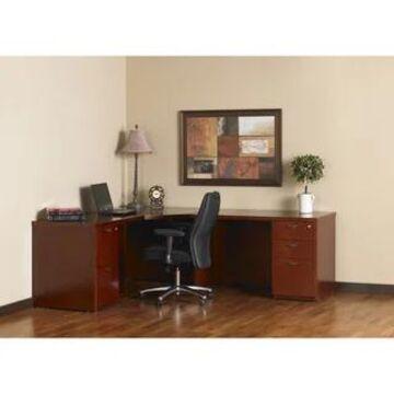 Mayline Mira Series Typical #31 Executive Desk (Medium Cherry)
