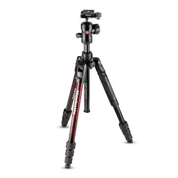 Manfrotto Befree Advanced Aluminum Travel Tripod Twist with Ball Head (Red)