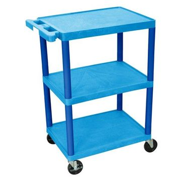 Luxor 3-Shelf Utility Cart Blue