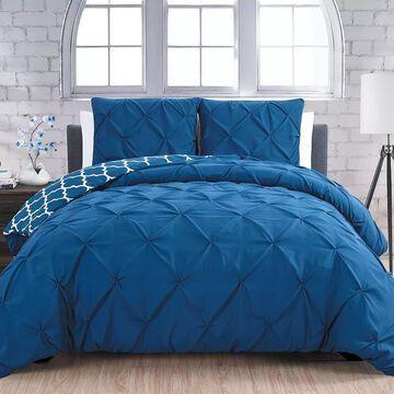 Avondale Manor Madrid 3-piece Duvet Cover Set, Blue, King