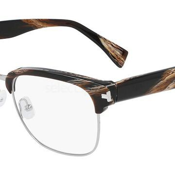 Lanvin LNV2109 206 Men's Glasses Brown Size 53 - Free Lenses - HSA/FSA Insurance - Blue Light Block Available