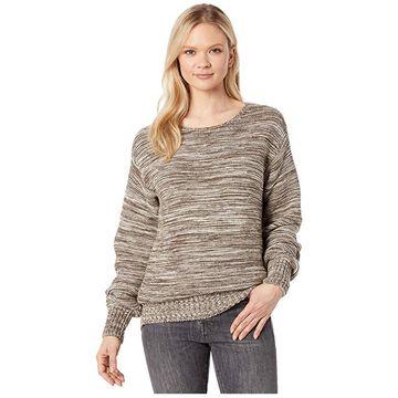 Filson Lake Quinault Crew Neck Sweater (Cream/Olive Melange) Women's Sweater