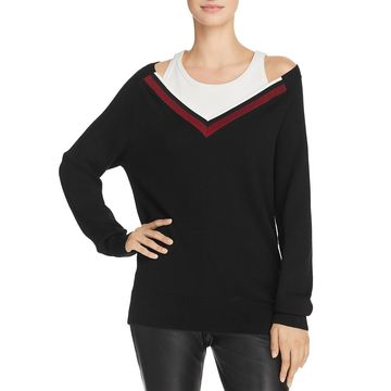 T by Alexander Wang Womens Wool Inner Tank Pullover Sweater