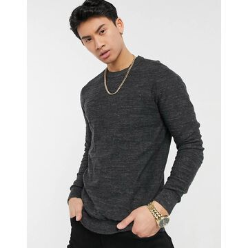Selected Homme crew neck sweater-Grey