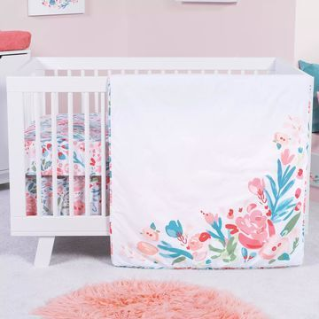 Trend Lab& Painterly Floral 3-Piece Crib Bedding Set