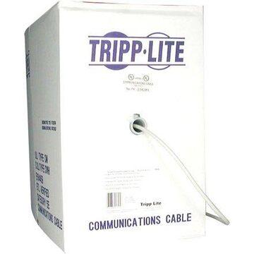 Tripp Lite 1000ft Cat5e Cat5 350MHz Bulk Solid-Core PVC Outdoor Cable Gray 1000'