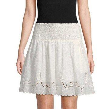 The Kooples Womens Smocked Flare Skirt