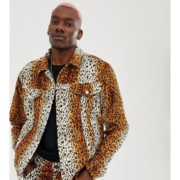 Reclaimed Vintage inspired leopard printed jacket