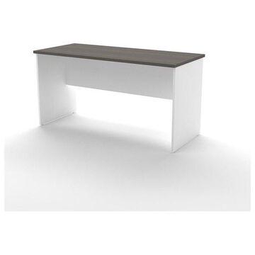 Bestar Innova Executive Desk in White and Antigua