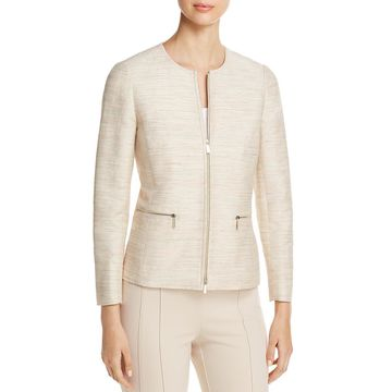 Lafayette 148 New York Womens Kerrington Silk Textured Jacket