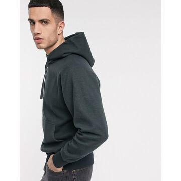 Weekday Helmer hoodie in dark gray-Navy