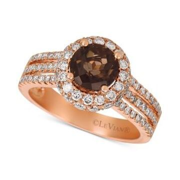 Le Vian Chocolate Smoky Quartz (1-1/3 ct. t.w.) & Nude Diamond (1-1/10 ct. t.w.) Statement Ring in 14k Rose Gold