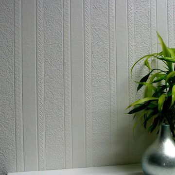 Brewster Anaglypta 57.5-sq ft Paintable Vinyl Paintable Textured Stripes 3D Unpasted Wallpaper Marble in White   437-RD80011
