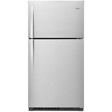 Whirlpool Monochromatic Stainless Steel Top-Freezer Refrigerator