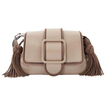 Marco De Vincenzo Beige Leather Handbags