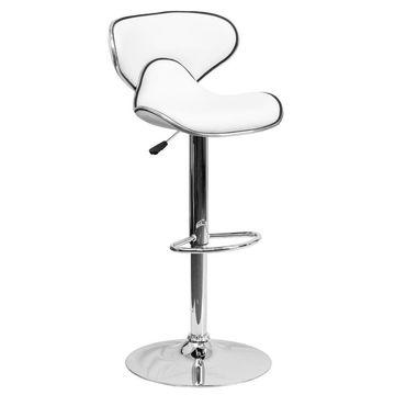 Flash Furniture White Adjustable Stool