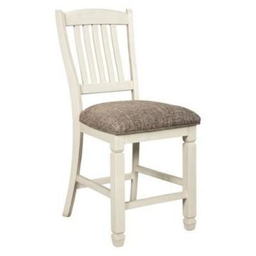 Set of 2 Bolanburg Upholstered Barstool Antique White - Signature Design by Ashley