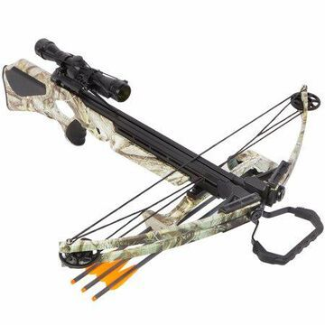 XtremepowerUS Crossbow 180 lbs 320 fps Archery Hunting Equipment with Quiver and 3 pcs Arrows