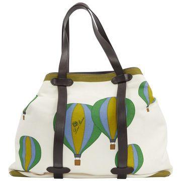 Loro Piana Green Cotton Handbag