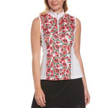 Pga Tour Women's Watermelon-Print Golf Shirt
