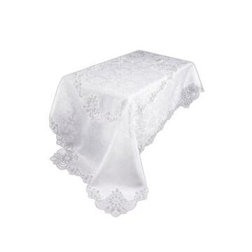 """Xia Home Fashions Antebella Lace Embroidered Cutwork Tablecloth, 72"""" x 108"""""""