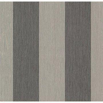 Brewster Stripe Black Atlis Wallpaper