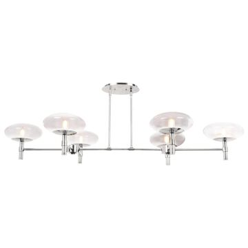 Access Lighting Nido 6-Light Matte Chrome Modern/Contemporary Chandelier | 52092LEDDLP-BS/CLR