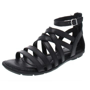 Born Womens Giverny Leather Strappy Flat Sandals