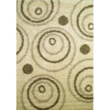 Concord Global Trading Shaggy Collections Circles Area Rug