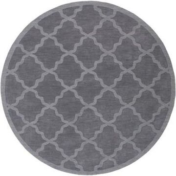 Artistic Weavers Central Park Abbey 6' Round Handcrafted Area Rug in Charcoal Grey