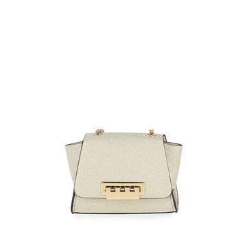 Eartha Mini Glittered Chain Crossbody Bag - Golden Hardware