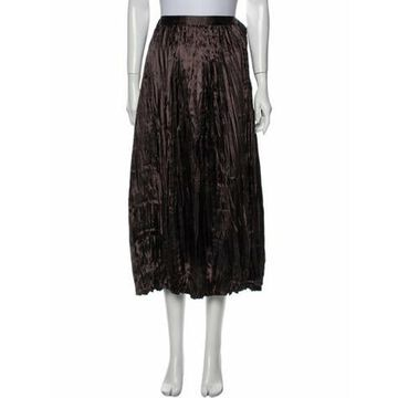 Midi Length Skirt Brown