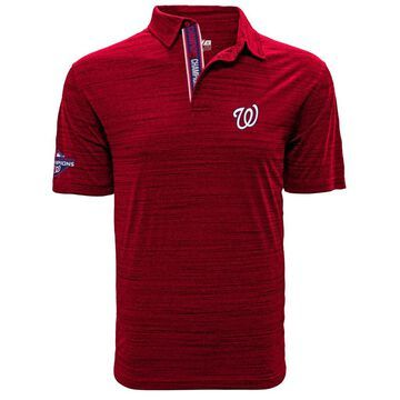 Men's Levelwear Red Washington Nationals 2019 World Series Champions Sway Polo