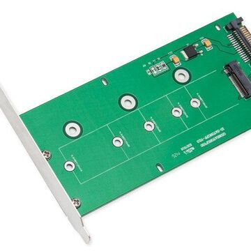Syba SI-ADA40084 M.2 NGFF to SATAIII Card with Full & Low Profile Brackets