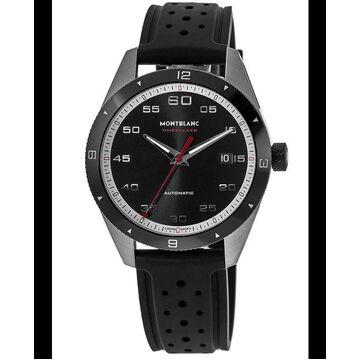 Montblanc Timewalker Date Black Dial Rubber Strap Men's Watch 116059 116059