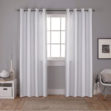 ATI Home Carling Basketweave Blackout Grommet Top Curtain Panel Pair