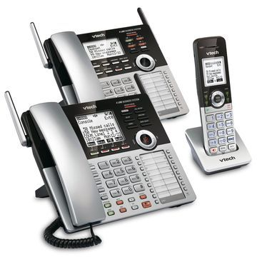 VTech 4-Line Small Business Phone System - Office Starter Bundle with 1 CM18...