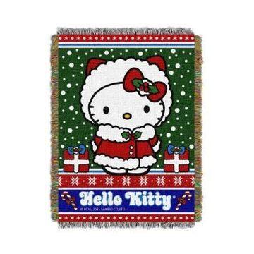 Hello Kitty Christmas Tapestry Throw