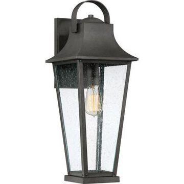 Quoizel Galveston 1-Light Large Outdoor Wall Lantern in Mottled Black