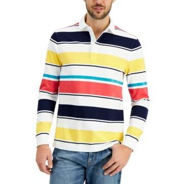 Club Room Men's Roadmap Striped Rugby Shirt, Created for Macy's