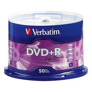 Verbatim Life Series DVD+R Spindle, Pack Of 50
